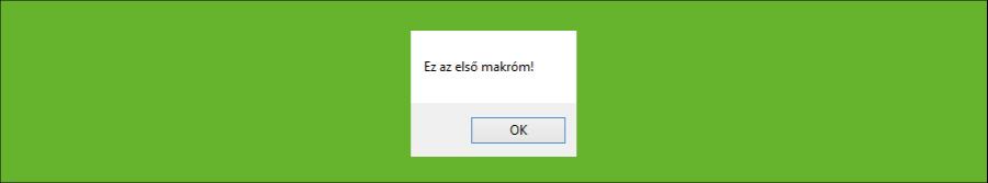 Excel VBA MsgBox ablak